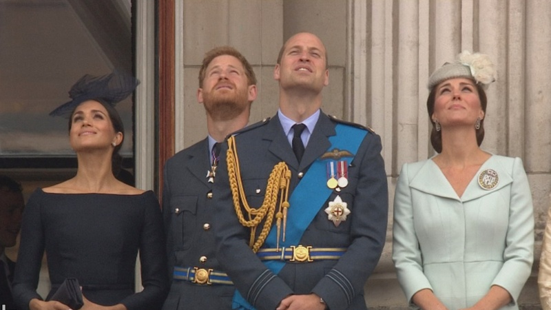 INSIGHT: Royals watch flyby to mark air force centenary