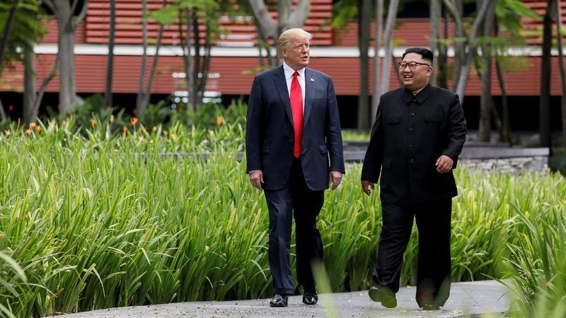 Kim heaps praise on Trump in letter