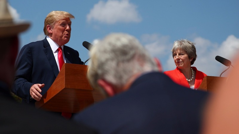 Trump visits UK: Did he threaten trade deal?