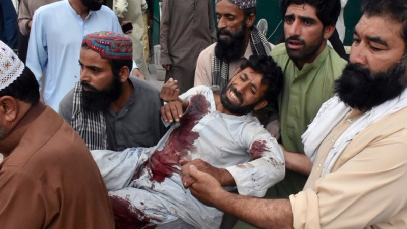 Over 100 killed in a suicide attack in Pakistan