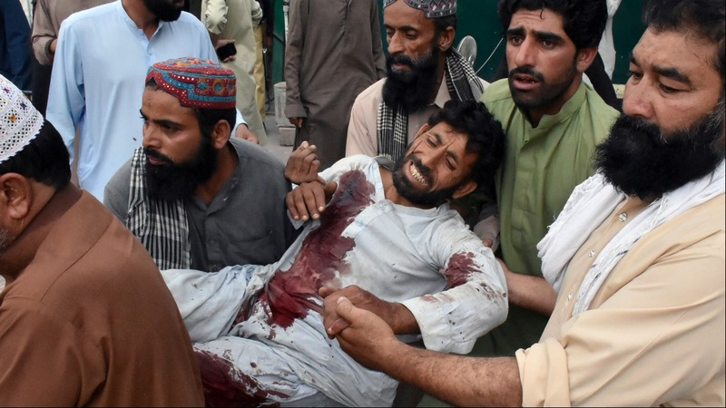 Over 120 killed in a suicide attack in Pakistan