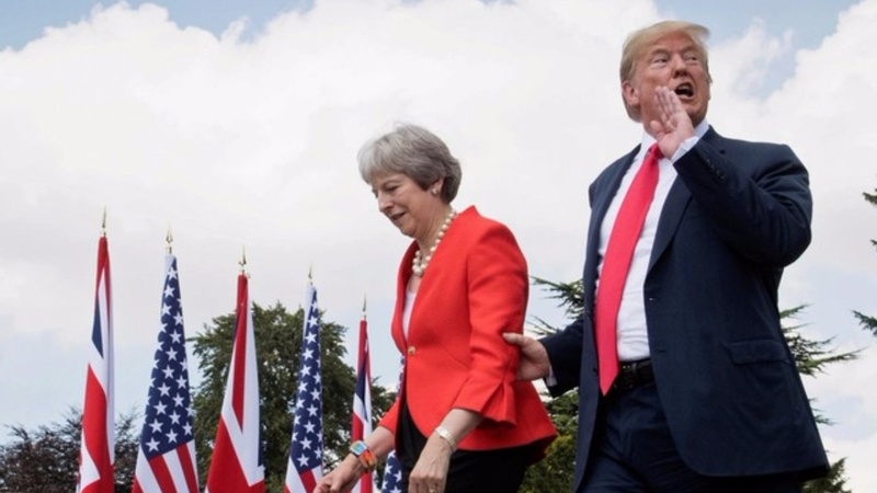 May says Trump told her to sue EU over Brexit
