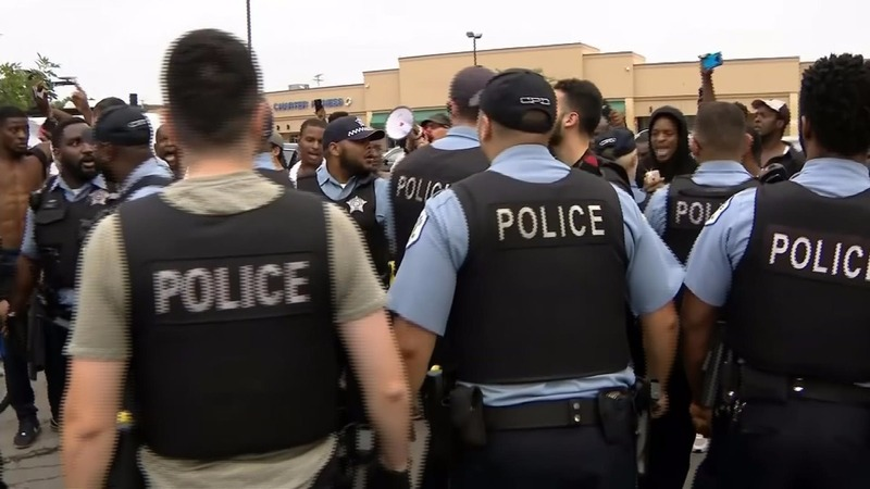 Protests erupt after deadly shooting in Chicago