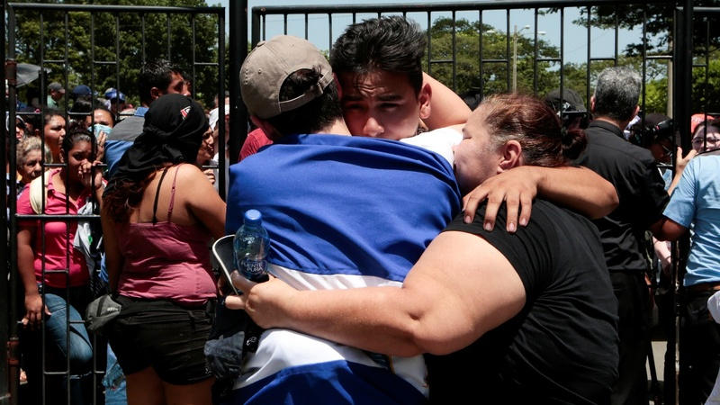 Nicaragua students leave church after deadly night