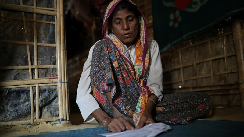 Letters connect Myanmar's separated Rohingya families