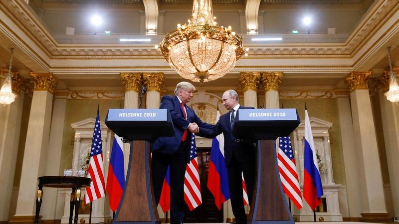 Trump defends Russia over U.S. election meddling