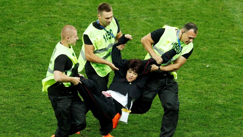 Jail sentence for Pussy Riot pitch invaders