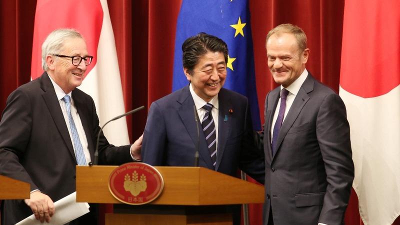 EU shrugs off Trump threats with Japan trade deal