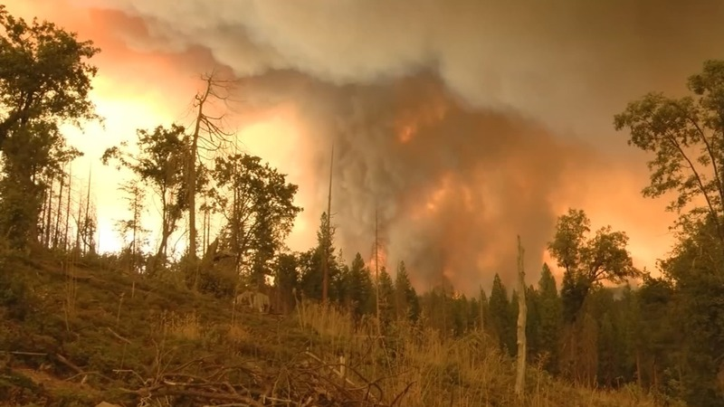 Hot, dry conditions stoking California wildfire