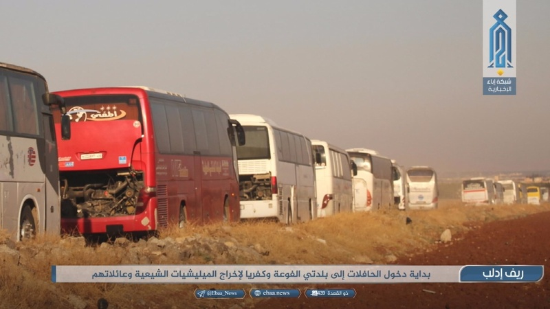 Pro-Assad villages evacuated in northern Syria