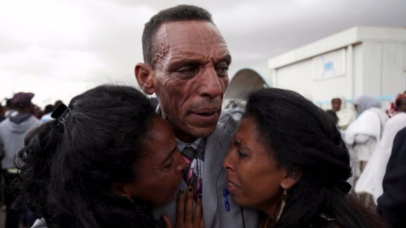 Ethiopian man reunited with family in Eritrea
