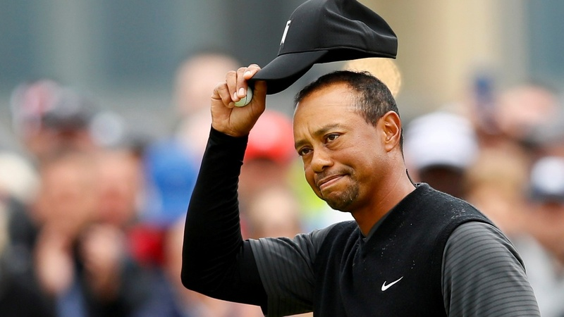 Tiger Woods falls short at the British Open