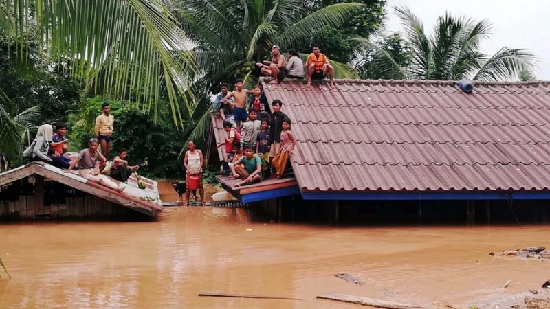 Hundreds missing in Laos dam collapse