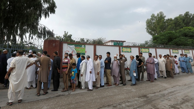 Dozens killed in blast as Pakistan goes to polls