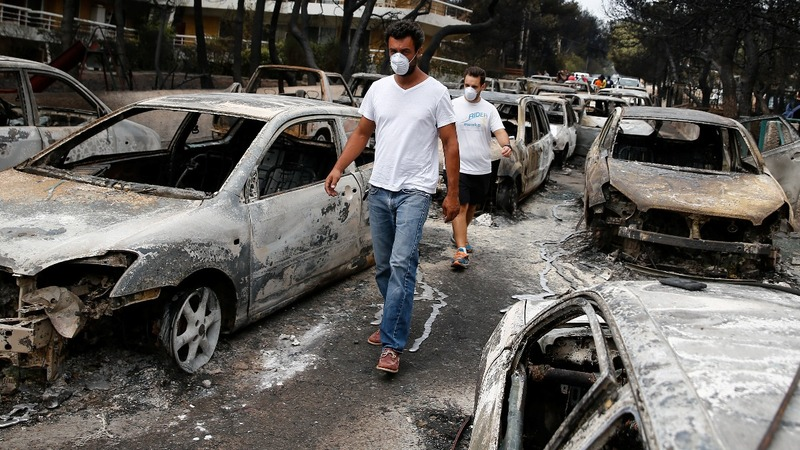 VERBATIM: Survivors recount Greek fire horror