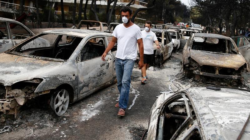 VERBATIM: Survivors recount Greek fire horror
