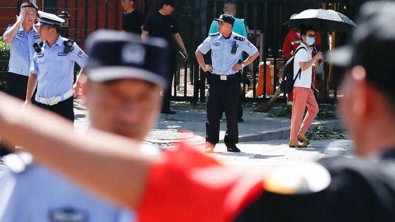 Blast goes off outside U.S. embassy in China
