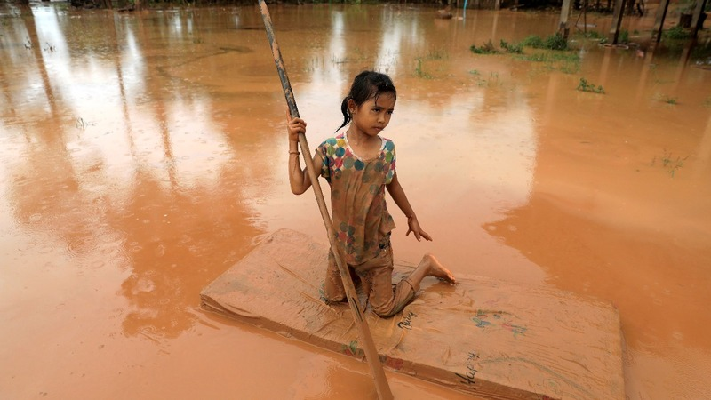 Rescues from burst dam continue in Laos