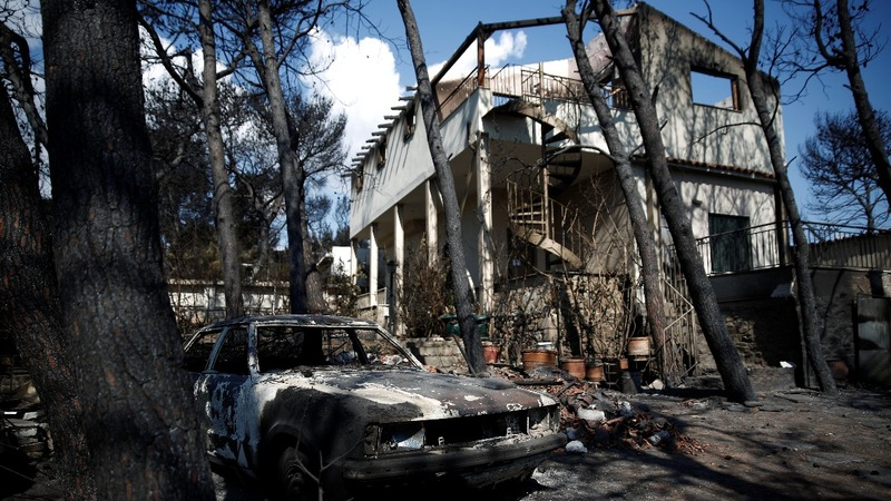 PM's words mean little to fire-stricken Greeks