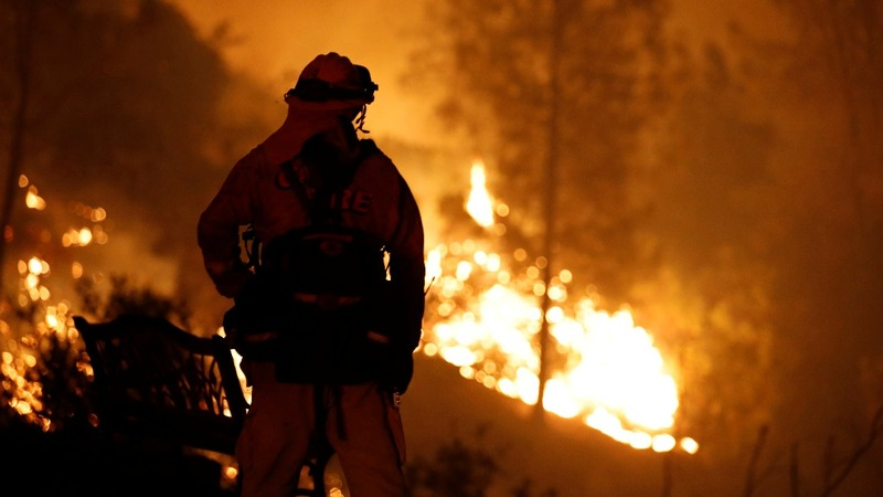 Calif. wildfire doubles in size as thousands flee
