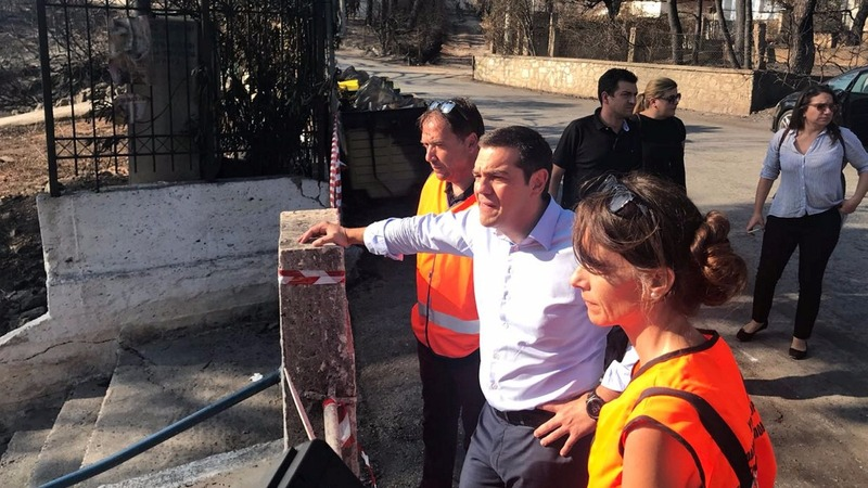 Greek PM visits Mati for first time since fire