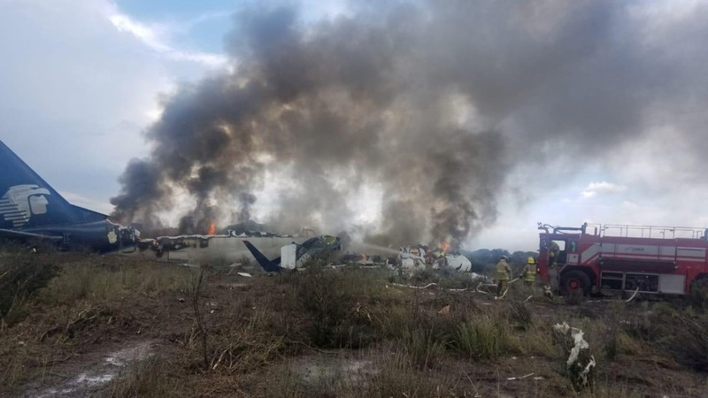 All on board survive after Mexican airliner crash