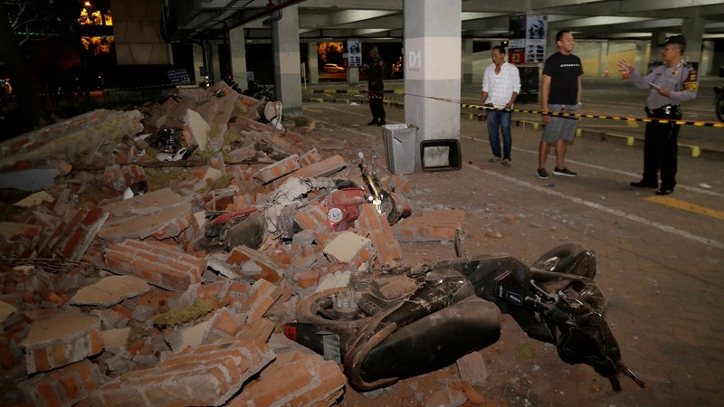 Powerful quake rocks Indonesia's Lombok and Bali
