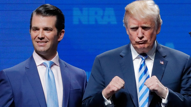 Trump says son sought intel on Clinton from Russians