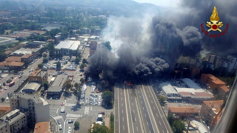 Tanker crash rocks Bologna
