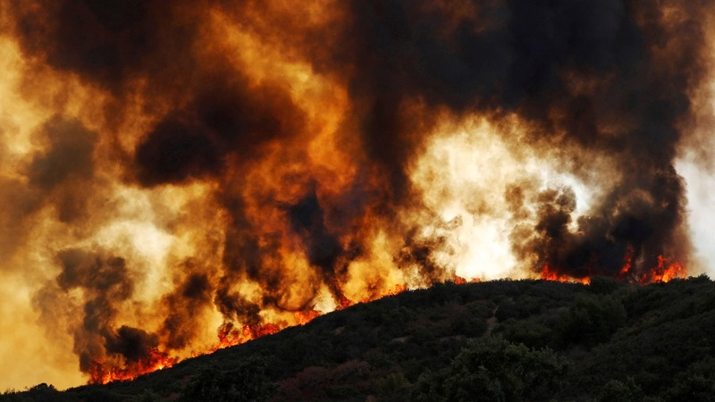 California wildfire becomes second largest ever
