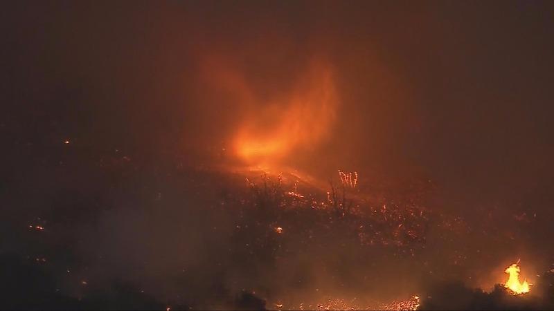 Fire tornado whips through California
