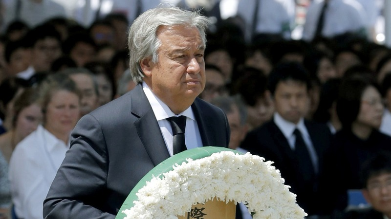 VERBATIM: UN chief speaks at Nagasaki memorial