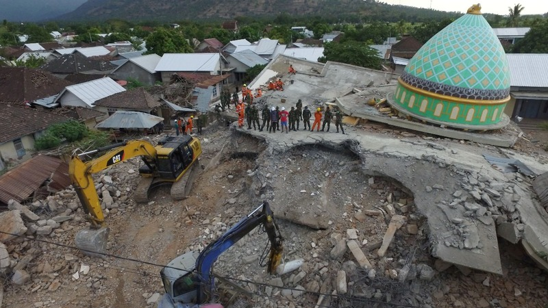 Aftershock causes panic on quake-hit Lombok
