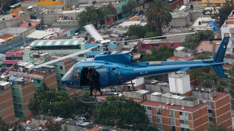 Mexico City crime spike forces police to the skies