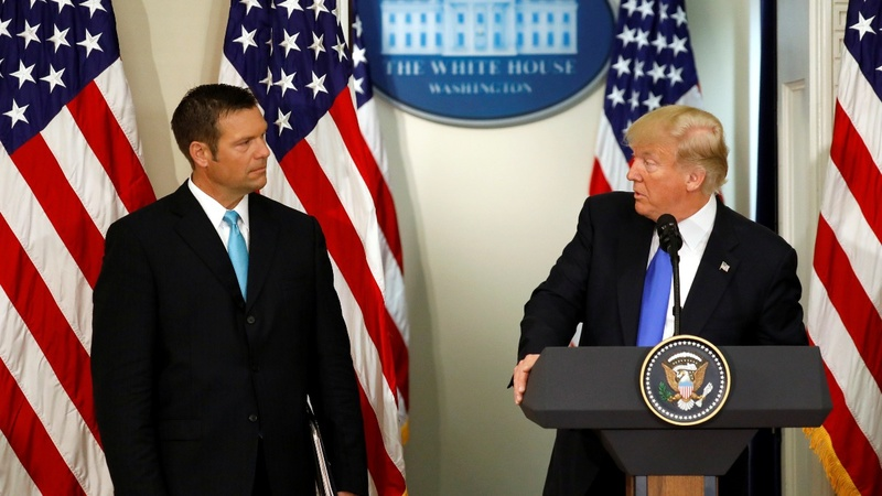 Kobach's lead cut back in fierce Kansas GOP primary