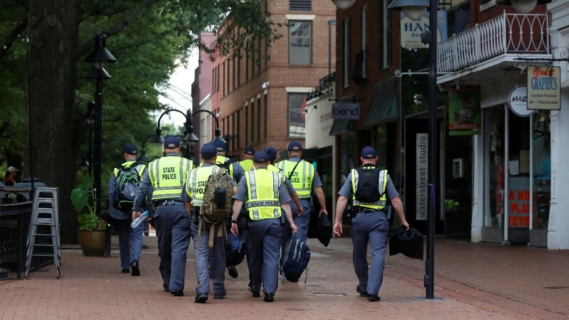 Charlottesville steps up security on a tense weekend