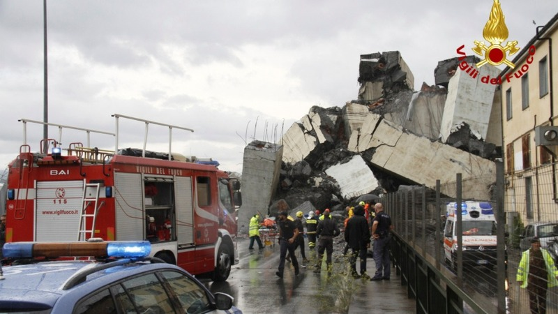 Up to 35 reported dead in Italy bridge collapse