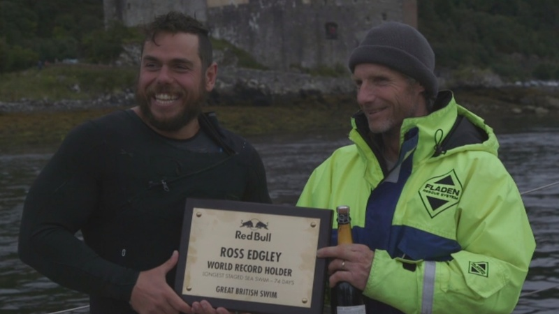 INSIGHT: Brit breaks longest staged sea swim record