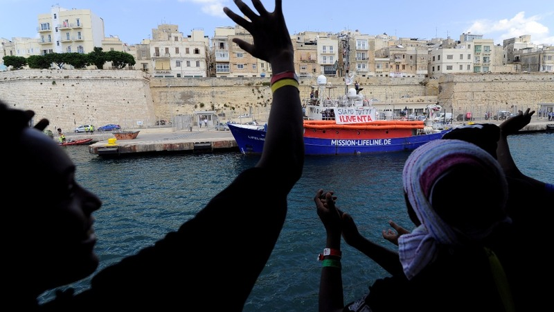 Aquarius docks in Malta ending EU standoff