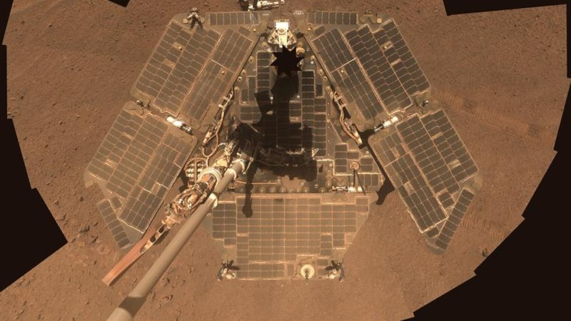 Mars rover Opportunity stuck in a deep sleep