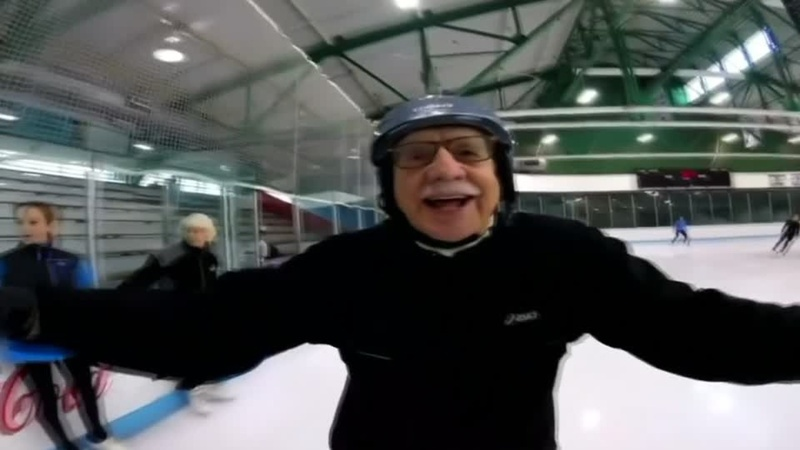 A judge who ice dances? No sweat, even at age 95