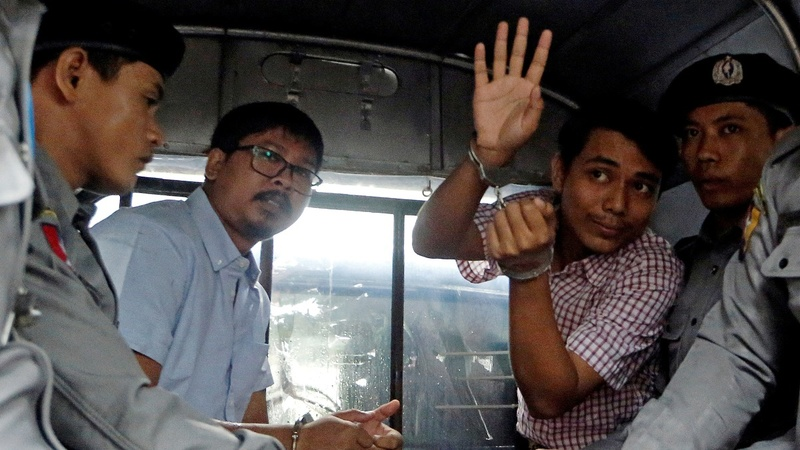 Jailed Reuters reporters face verdict in Myanmar