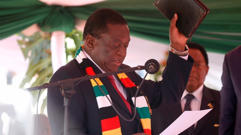 Zimbabwe's 'disputed' president is sworn in