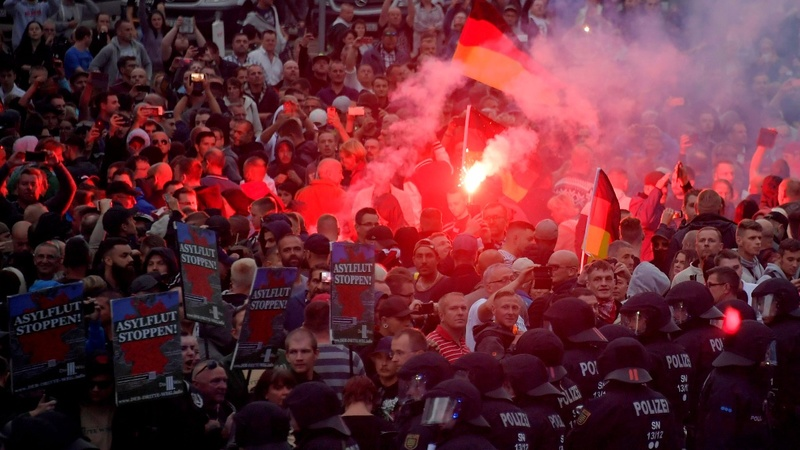 Anti-migrant protest sparks violence in Germany