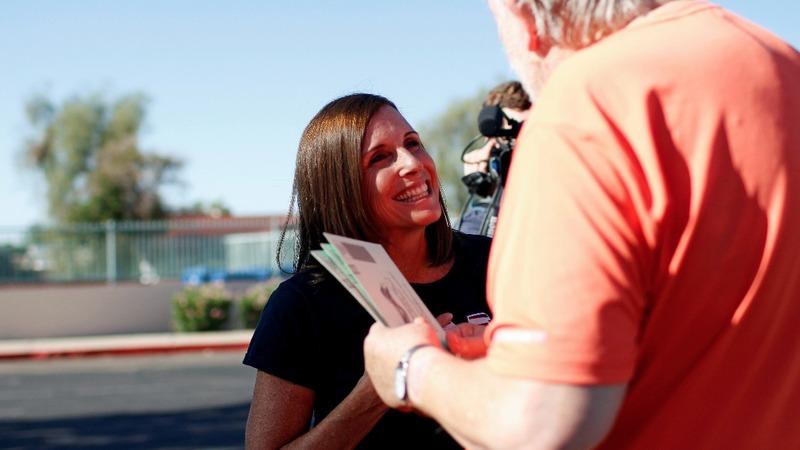 GOP picks centrist for key Arizona Senate race