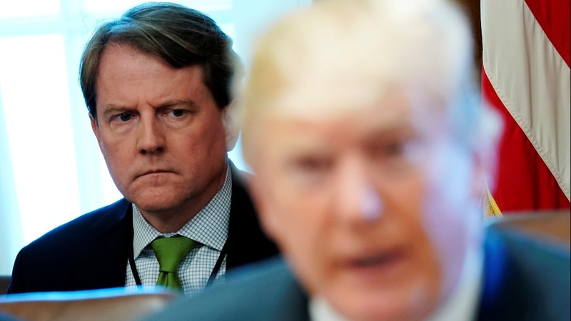 WH counsel McGahn to leave amid tensions with Trump
