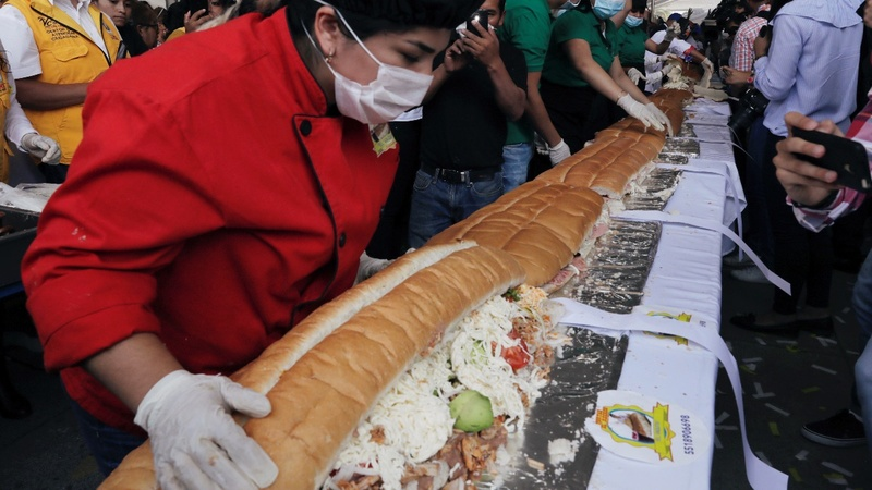 INSIGHT: Mexico sets record for longest sandwich