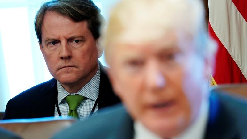 Trump denies reports of McGahn drama