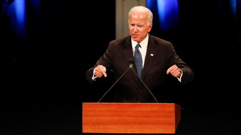 VERBATIM: Biden brings humor to McCain eulogy