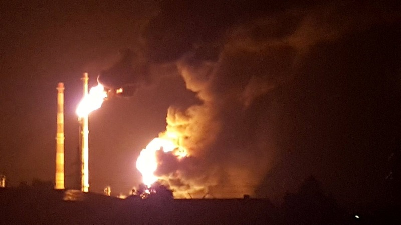 Thousands evacuated after fire at German refinery